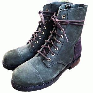 UGG Kilmer Slate Leather Lace Up Dressy Military